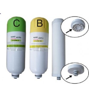 FA1117 Bio Aura Nano Water Filter Ceramic A + Cartridge B And C (Set of 3)