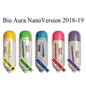 FA1118 Bio Aura Nano Water Filter Ceramic A + Cartridge B, C, D, E And F (Set of 6)