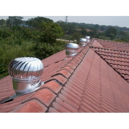 FA1296 WINDMILL US Wind Turbine Ventilator 18 Inch x 2 Units (with Installation in Pahang)