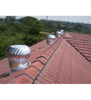 FA1297 WINDMILL US Wind Turbine Ventilator 18 Inch x 2 Units (with Installation in Penang)