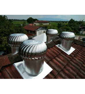 FA1324 WINDMILL US Wind Turbine Ventilator 21 Inch x 2 Units (with Installation in Pahang)