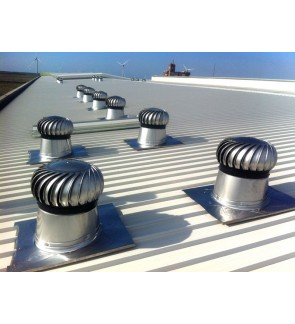 FA1375 US Stainless Steel 304 Wind Turbine Ventilator 24 Inch with Hybrid Boost Bearing (with Installation in Kelantan)