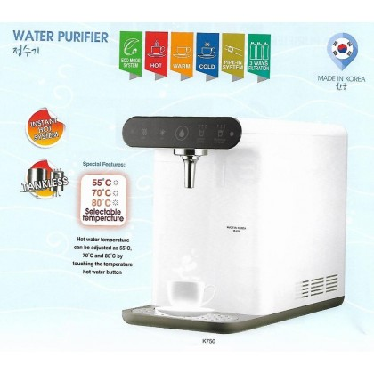 FW1162 Korea Water Filter Dispenser K-750 Eco Mode Instant Heating / Direct Cooling PENANG