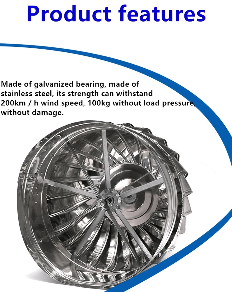 FW1119 US Stainless Steel 304 Wind Turbine Ventilator 36 Inch With Hybrid Boost Bearing + Life Time Warranty (With Installation In PAHANG)