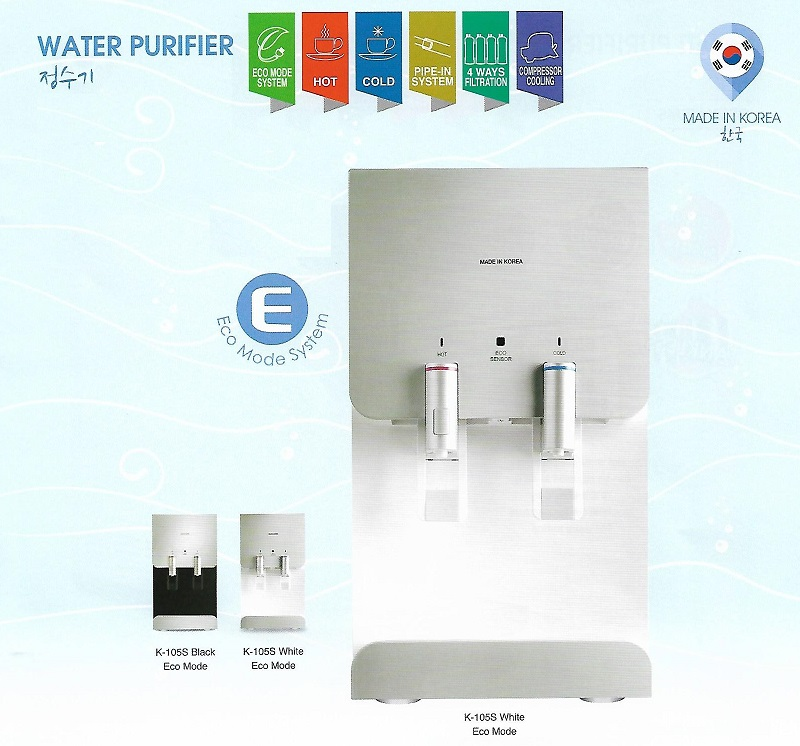 FW1136 Korea K-105S Hot & Cold Water Filter Dispenser PERLIS